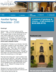Elizabeth St Painters Newsletter